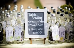 bottle seating cards