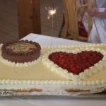 romantische Herz-Hochzeitstorte