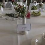 ...und kleinem Blumenstrauß für die Gäste