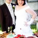 Romantisches Erdbeer-Herz als Hochzeitstorte
