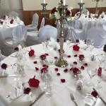 Rot und weiße Dekoration